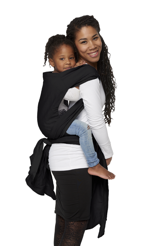 Babydrager Mei Tai Classic Toddler Black Zijkant Bykay