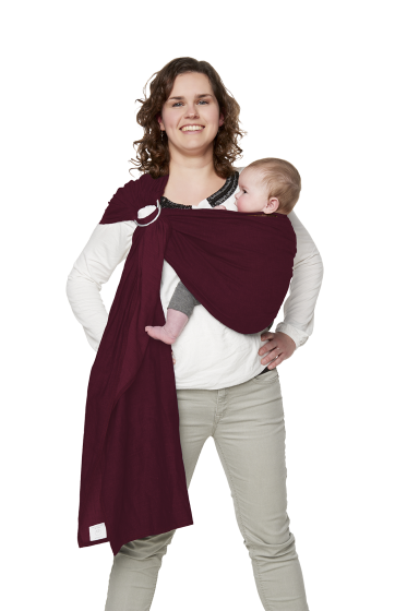 Babydrager Ringsling Berry Red Voorkant Bykay