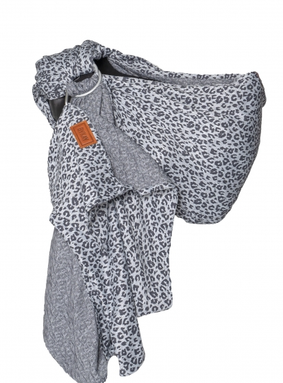 Ringsling grey leopard zonder model